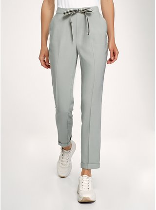Kalhoty rovné s kontrastní vázačkou v pase OODJI