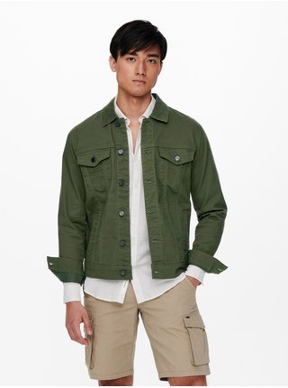 Zelená ľahká bunda ONLY & SONS Coin
