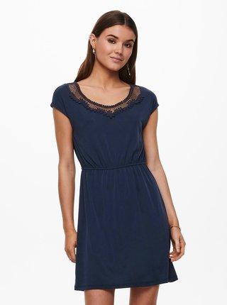 Tmavě modré šaty s ozdobným detailem ONLY Free Life