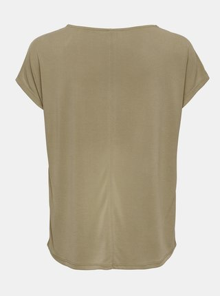 Khaki tričko s krajkou ONLY FreeLife