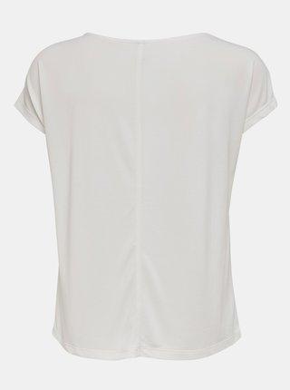 Biele tričko s krajkou ONLY Free Life
