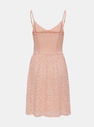 Meruňkové krajkované šaty ONLY New Alba