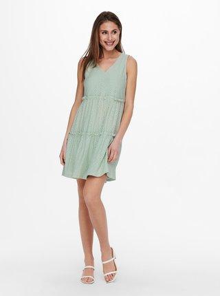 Svetlozelené šaty ONLY Lina