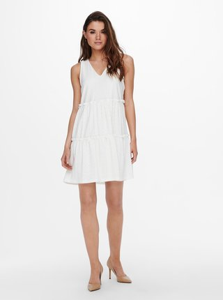 Krémové šaty ONLY Lina
