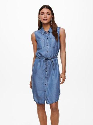 Modré košilové šaty ONLY Claire