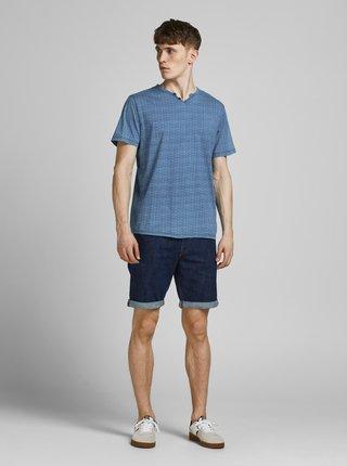Modré vzorované tričko Jack & Jones Prince