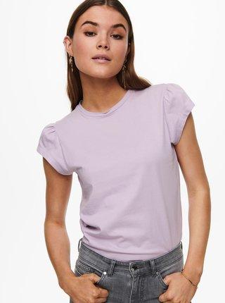 Světle fialové tričko ONLY New Nora