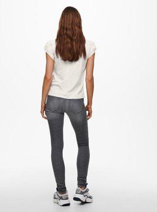 Krémové tričko ONLY New Nora