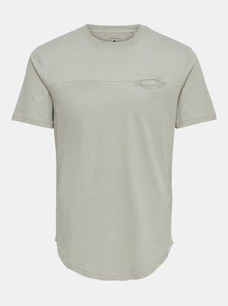Šedé tričko s vreckom ONLY & SONS Dash