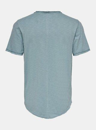 Svetlomodré basic tričko ONLY & SONS Benne