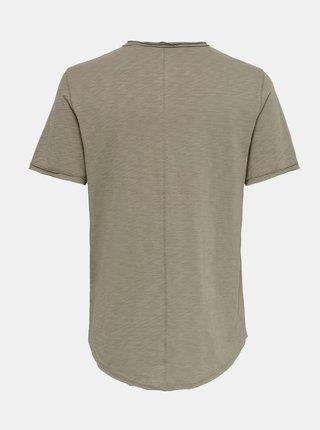 Kaki basic tričko ONLY & SONS Benne