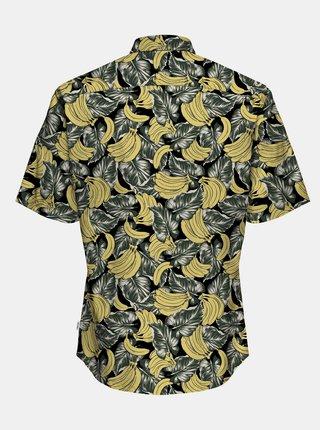 Žlto-čierna vzorovaná košeľa s krátkym rukávom ONLY & SONS Kaspar
