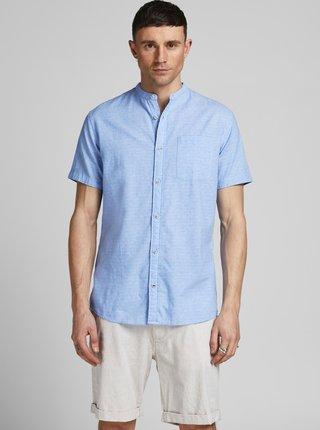 Modrá košile s příměsí lnu Jack & Jones Summer Kendrick Band