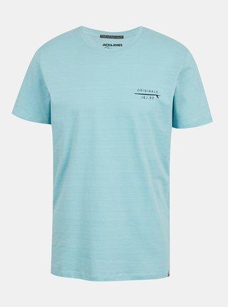 Svetlomodré tričko s potlačou Jack & Jones Poolside