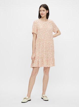 Růžové květované šaty Pieces Miller