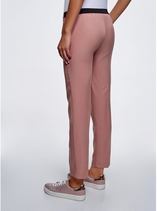 Kalhoty s gumou z lyocellu OODJI