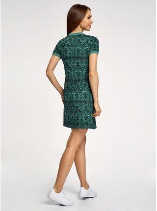 Šaty volného střihu z materiálu s výraznou texturou OODJI