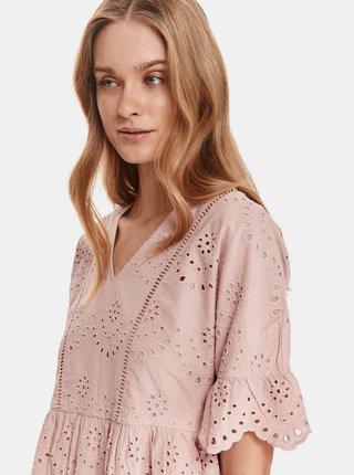 Světle růžové šaty s madeirou TOP SECRET