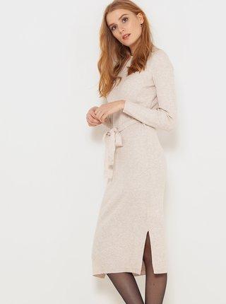 Šaty na denné nosenie pre ženy CAMAIEU - krémová