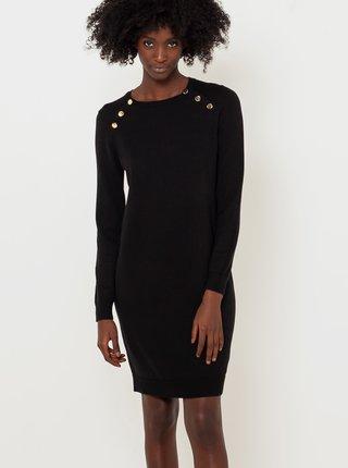 Černé svetrové pouzdrové šaty CAMAIEU