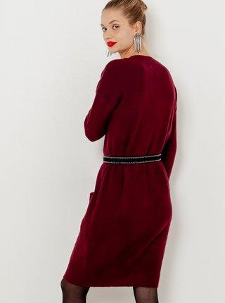 Šaty na denné nosenie pre ženy CAMAIEU - vínová