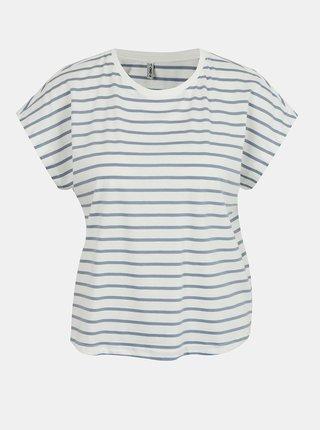 Modro-bílé pruhované tričko ONLY Peppa