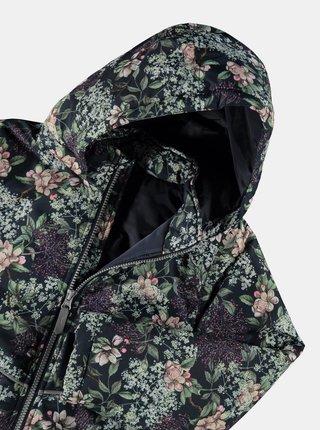 Tmavomodrá dievčenská kvetovaná bunda name it Maxi