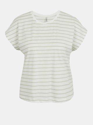 Svetlozeleno-biele pruhované tričko ONLY Peppa