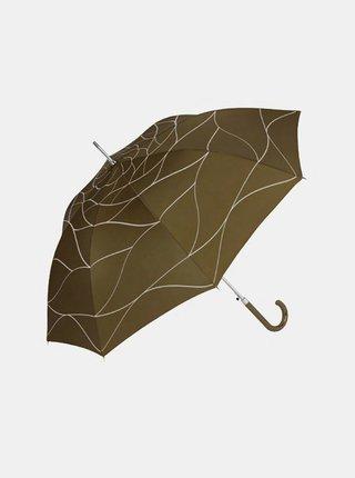 Cachemir Lady dámský holový vystřelovací deštník - Hnědá