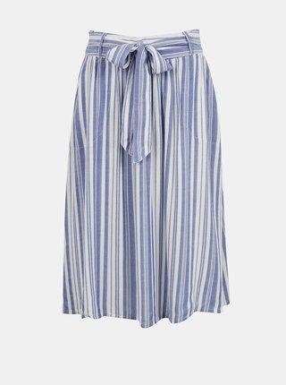 Modro-bílá pruhovaná sukně ONLY Manhattan