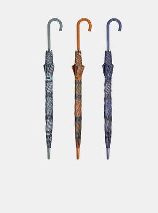 Cachemir Style dámský holový vystřelovací deštník - Fialová
