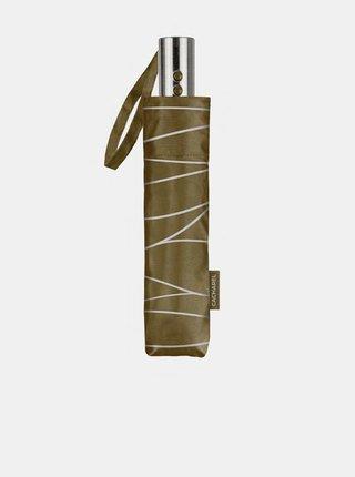 Cachemir Lady dámský skládací plně automatický deštník - Olivová