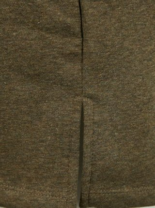 Kaki mikinové šaty s kapucou Pieces Chilli