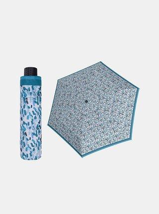 Doppler Havanna Sprinkle modrý ultralehký skládací deštník s UV ochranou - Modrá