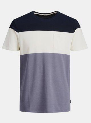Modro-bílé pruhované tričko Jack & Jones Blarepeat