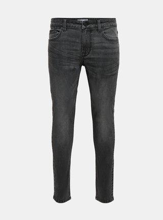 Tmavě šedé skinny džíny ONLY & SONS Warp