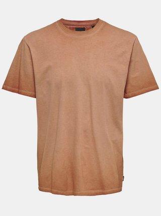 Cihlové basic tričko ONLY & SONS Millenium