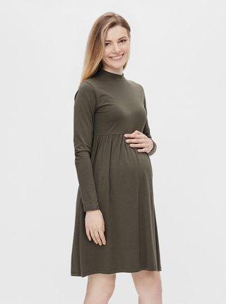 Khaki těhotenské šaty Mama.licious Sia