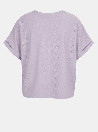 Svetlofialové vzorované tričko Jacqueline de Yong Fatinka