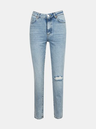 Světle modré straight fit džíny AWARE by VERO MODA Nadine