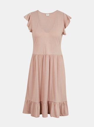 Světle růžové šaty s volány Jacqueline de Yong Ditte