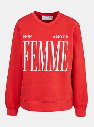 Mikiny pre ženy Selected Femme - červená