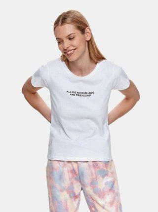 Biele tričko s nápisom TOP SECRET