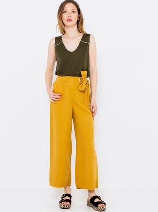 Culottes pre ženy CAMAIEU - žltá