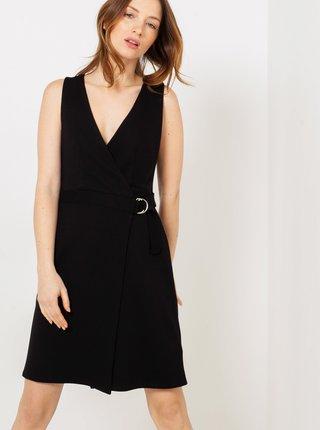 Čierne zavinovacie šaty CAMAIEU