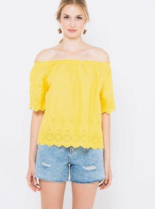 Žltá blúzka s odhalenými ramenami CAMAIEU