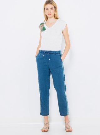 Modré džínové kalhoty CAMAIEU