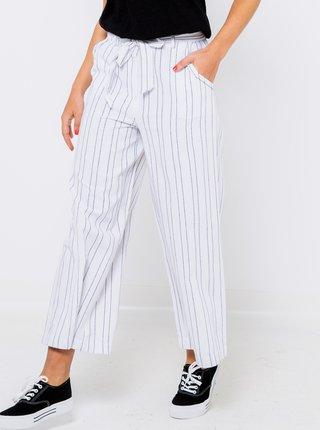 Bílé široké pruhované kalhoty CAMAIEU