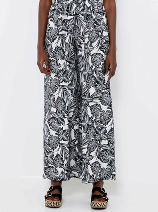 Šedé široké vzorované nohavice CAMAIEU