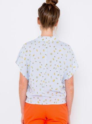 Modrá vzorovaná košeľa CAMAIEU